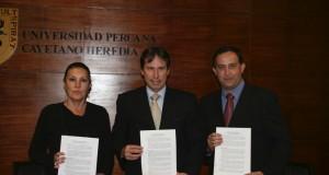 TASA Y UPCH firman convenio para promover investigación y fomentar el CHD de pescado