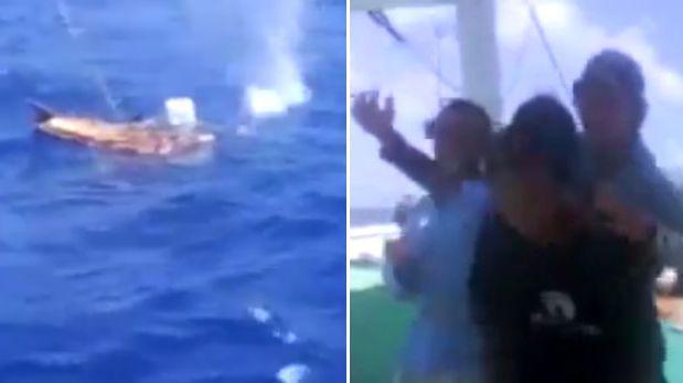 Pescadores se grabaron asesinando a un hombre en alta mar