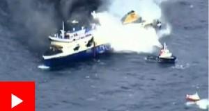 Así ardió el Ferry que se incendió en el Adriático