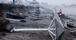 Huanchaco en emergencia por fuerte oleaje que destruyó malecón