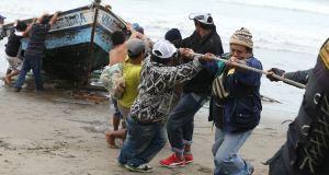 Fuerte oleaje afectó Pesca artesanal en las costas del sur del Perú