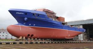 Astillero ruso botará un barco de apoyo logístico con casco reforzado