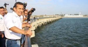 TRUJILLO – Humala inspeccionó construcción de desembarcadero