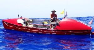 Aventurero atraviesa el Océano Pacífico a remo en 209 días