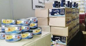 CHICLAYO – Policía incautó Atún adulterado cerca a mercado Moshoqueque