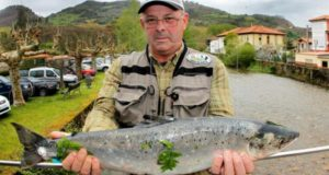 Salmón de 4,1 kilos, subastado por 3.700 euros